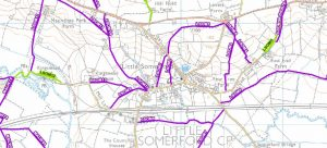 Map showing the rights of way in Little Somerford