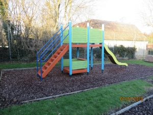 Climbing frame in the play park