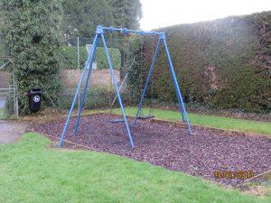 Set of swings in the play park