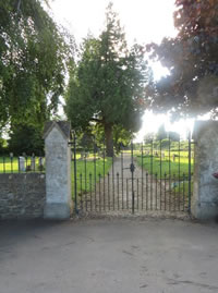 Picture of the cemetery gates