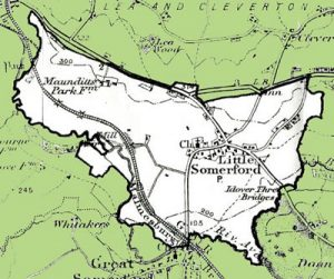 Map showing boundary of Little Somerford Parish