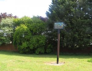 Village sign on Millennium Green