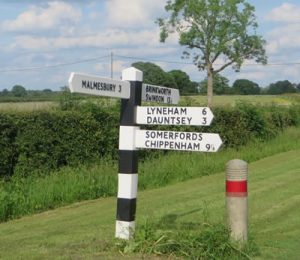 Picture of the sign post in Little Somerford